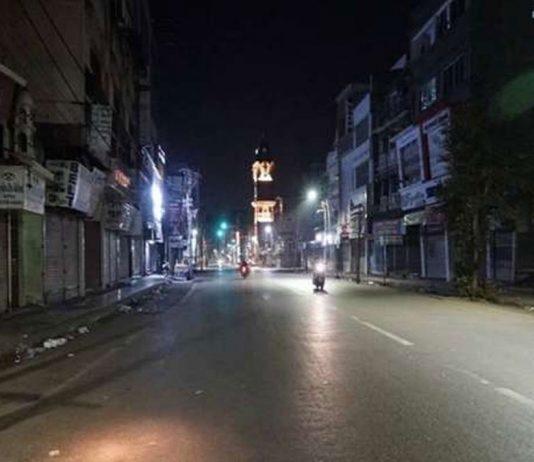 Night curfew in Chandigarh