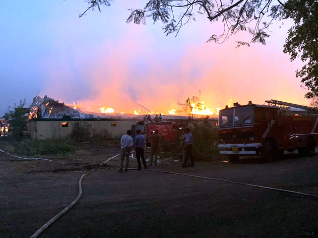 Major Fire at Trident's Textile plant in Budhni (MP)