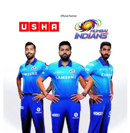 Usha International continues association with Mumbai Indians for 8th consecutive year:
