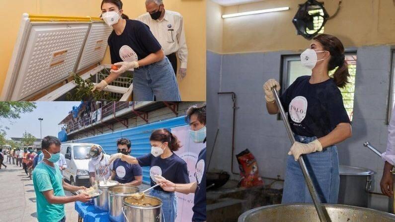 Jacqueline Fernandez Help Prepare Meal For Needy In Covid Crisis
