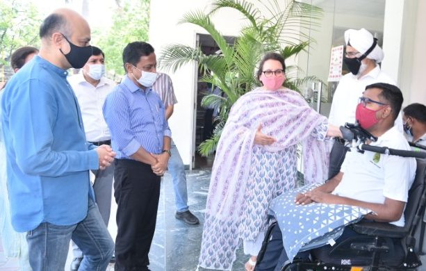 Wheelchair Bound get Vaccinated at Chandigarh Spinal Rehab