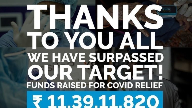 Anushka and Virat's Covid fundraiser effort surpasses target
