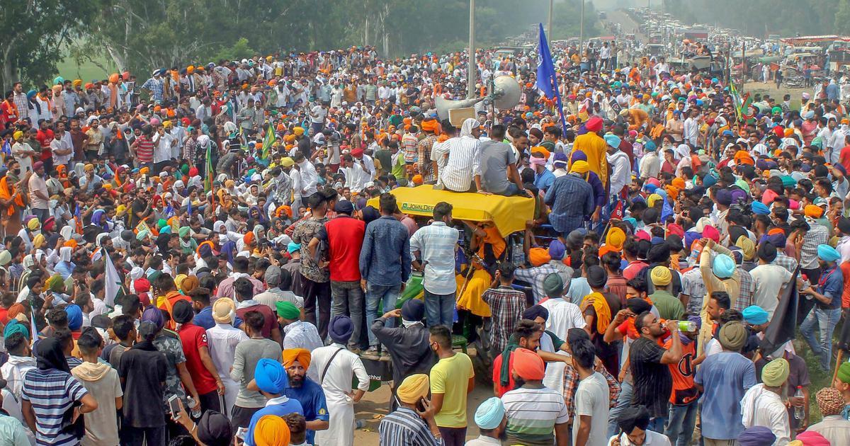 Farmers protesting farm laws in Punjab