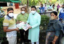 Mayor creates awareness about swachhata at ward No.3