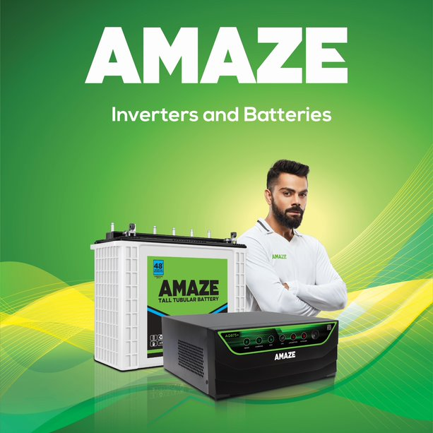 Amaze Inverters and Batteries extends Endorsement Deal with Cricket Superstar Virat Kohli