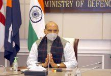 Rajnath takes stock of Project Seabird at Karwar base