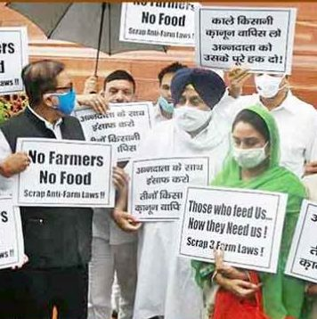 Akali Dal protests against farm laws, to boycott all-party meet