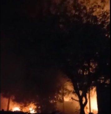 Fire in Delhi's Tikri market