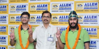 Allen Chandigarh students bagged AIR 1 in JEE Mains 2021