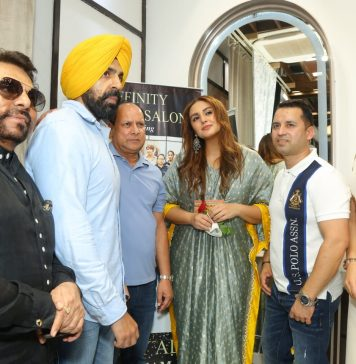 Affinity luxury salon inaugurated by Bollywood actress Huma Qureshi in city beautiful Chandigarh