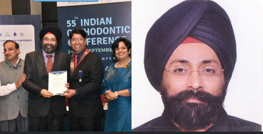 City Orthodontist Dr Sarabjeet Singh Elected as vice President of Indian Orthodontic Society