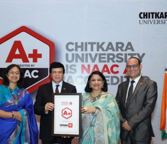 Chitkara University bags A+ NAAC Accreditation